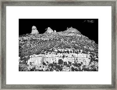 Meeting Place In Sedona Framed Print by John Rizzuto