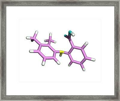 Mefenamic Acid Drug Molecule Framed Print by Dr Tim Evans
