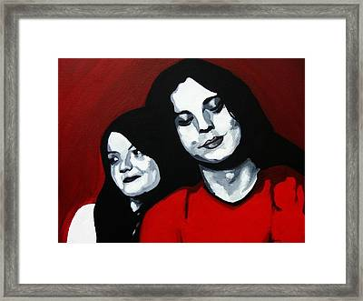Meg And Jack Framed Print by Rock Rivard