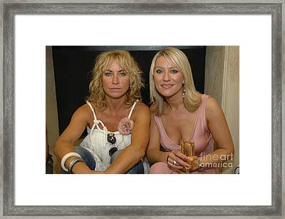 Meg Matthews And Zoe Lucker Framed Print