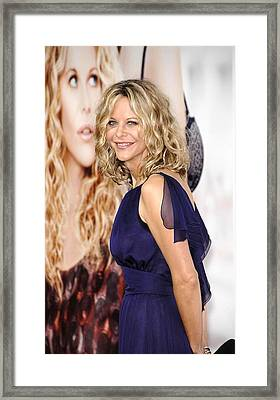 Meg Ryan At Arrivals For Premiere Framed Print
