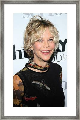 Meg Ryan At Arrivals For Serious Framed Print