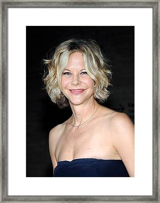 Meg Ryan At Arrivals For The Framed Print