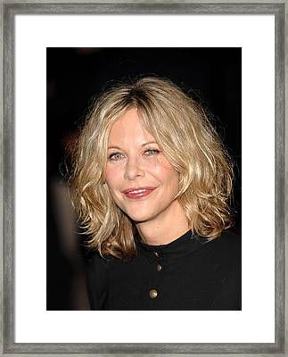 Meg Ryan At Arrivals For The Women New Framed Print