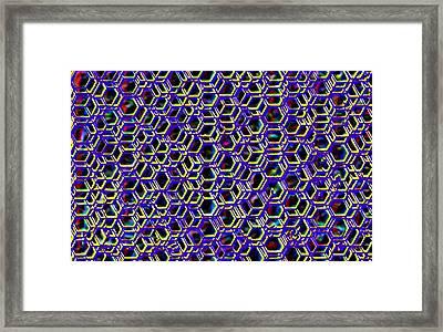 Mega Nano Structure Framed Print by Rod Saavedra-Ferrere