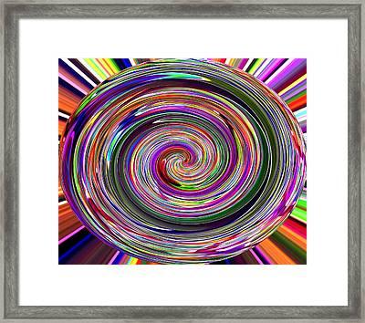Mega Spiral Framed Print