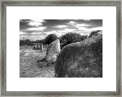 Megalithes In Carnac Framed Print by Philwebbphotography