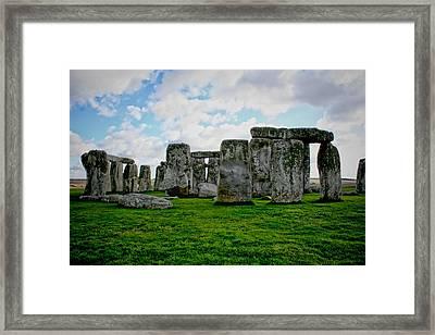 Megaliths Framed Print by Heather Applegate