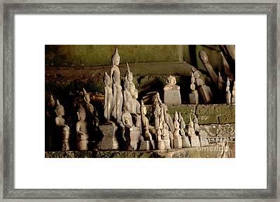Mekong Buddha Cave  Framed Print