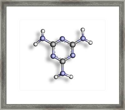 Melamine, Molecular Model Framed Print by Pasieka