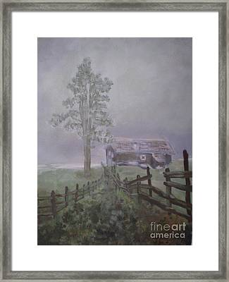 Framed Print featuring the painting Melancholia by Annemeet Hasidi- van der Leij