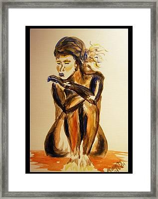 Melancholy Framed Print by Angela Murray