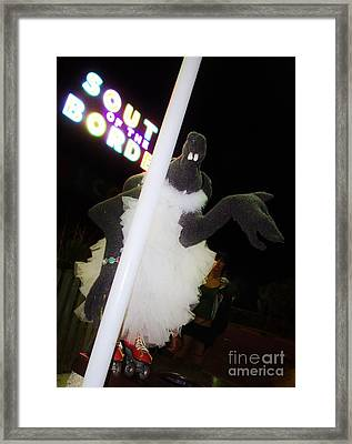 Melanie Pole Dancing At The Border Framed Print