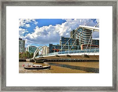 Melbourne Australia City Boat Ride Framed Print