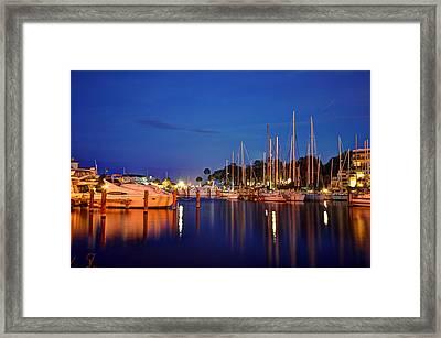 Melbourne Harbor Framed Print by Lisa Goddard
