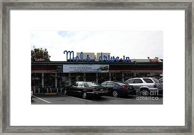 Mel's Drive-in Diner In San Francisco - 5d18013 Framed Print by Wingsdomain Art and Photography