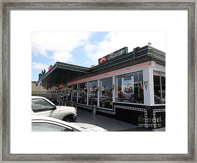 Mel's Drive-in Diner In San Francisco - 5d18041 Framed Print by Wingsdomain Art and Photography