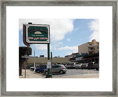 Mel's Drive-in Diner In San Francisco - 5d18045 Framed Print by Wingsdomain Art and Photography