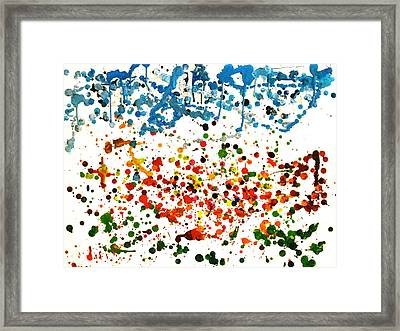 Melted Crayons Colourful Garden Framed Print by Pretchill Smith
