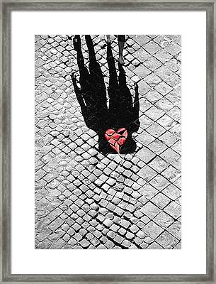 Melted In Love Framed Print by Valentino Visentini
