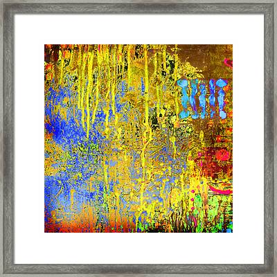 Framed Print featuring the painting Meltig Yellow by Lolita Bronzini