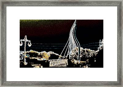 Melting Bridge Framed Print by David Alvarez