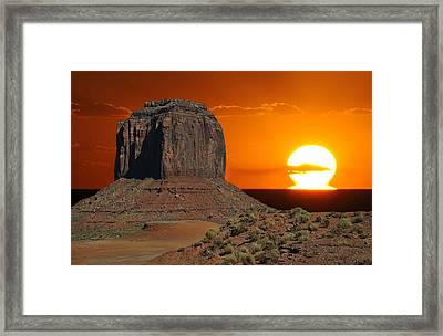 Melting Into The Horizon At Monument Valley National Park Framed Print