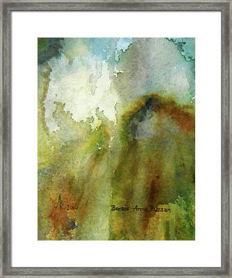 Framed Print featuring the painting Melting Mountain by Anna Ruzsan