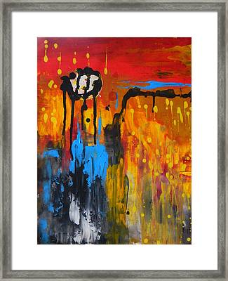 Framed Print featuring the painting Melting Point by Everette McMahan jr