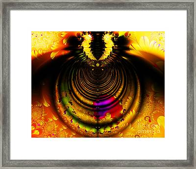 Melting Pot . Gold . Horizontal Cut . S8a.s11 Framed Print by Wingsdomain Art and Photography