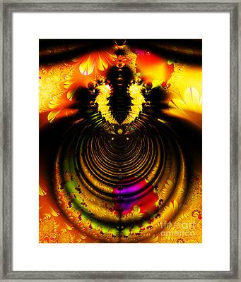Melting Pot . Gold . S8a.s11 Framed Print