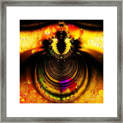 Melting Pot . Gold . Square . S8a.s11 Framed Print