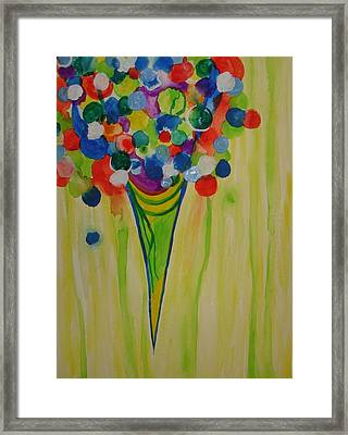 Framed Print featuring the painting Melting Shave Ice by Erika Swartzkopf