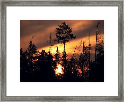 Melting Skies Framed Print