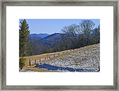 Melting Snow Framed Print by Susan Leggett