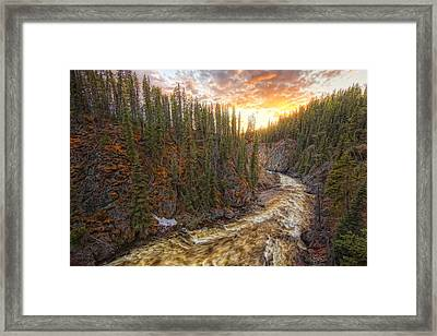 Meltwater Raging Through The Morley Framed Print