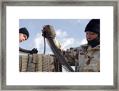 Members From The Australian Army Place Framed Print by Stocktrek Images