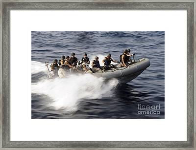 Members Of A Visit, Board, Search Framed Print by Stocktrek Images