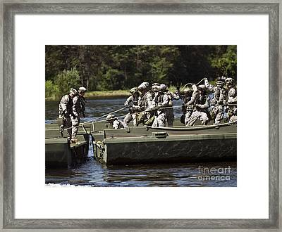 Members Of The 341st Engineer Company Framed Print by Stocktrek Images