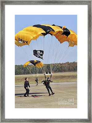 Members Of The Golden Knights Parachute Framed Print by Stocktrek Images