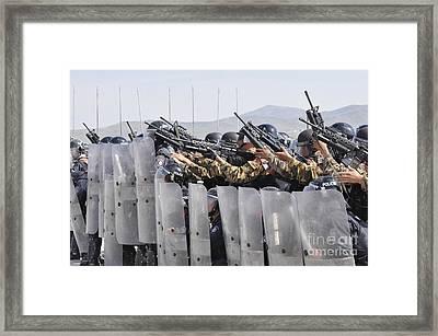 Members Of The Mongolian Internal Framed Print by Stocktrek Images