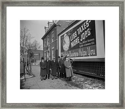Members Of The National Chamber Framed Print