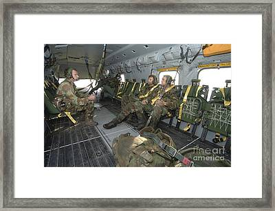 Members Of The Pathfinder Platoon Framed Print by Andrew Chittock