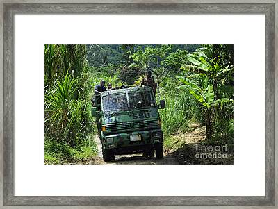Members Of The Royal St. Lucia Police Framed Print by Stocktrek Images