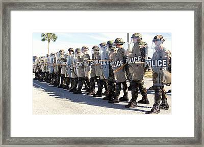 Members Of The Security Forces Squadron Framed Print by Stocktrek Images