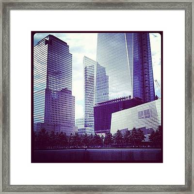 Memorial And Trade Centers Framed Print