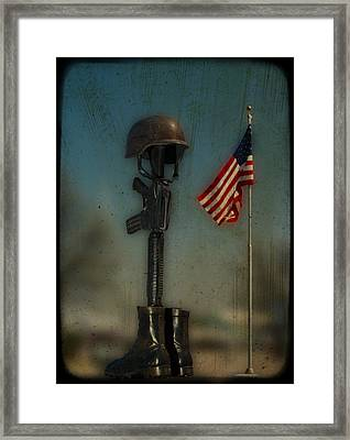 Memorial Framed Print by Brady D Hebert