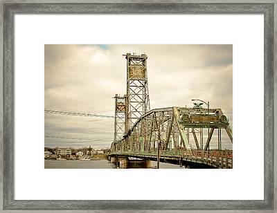 Memorial Bridge Portsmouth Nh Framed Print by Debbra Obertanec