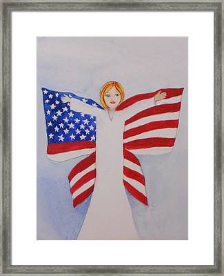 Memorial Day For Those Who Sacrificed Framed Print by DJ Bates