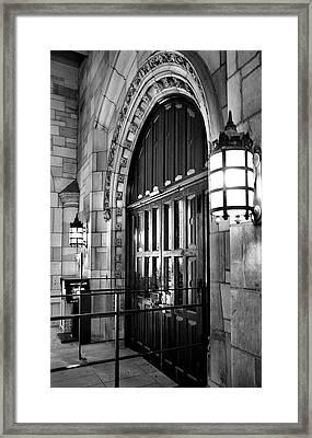 Memorial Hall Entrance Framed Print by Steven Ainsworth